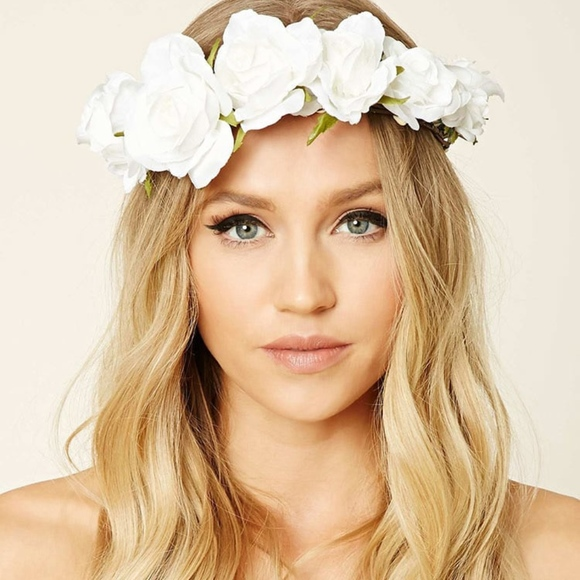 Accessories nwt coachella white wedding flower headband poshmark nwt coachella white wedding flower headband mightylinksfo